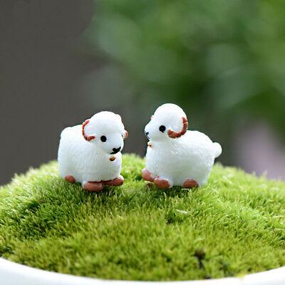 Landscape Mini 2 Pcs Cute Resin Crafts Decorations Simulation Goat Garden Decor