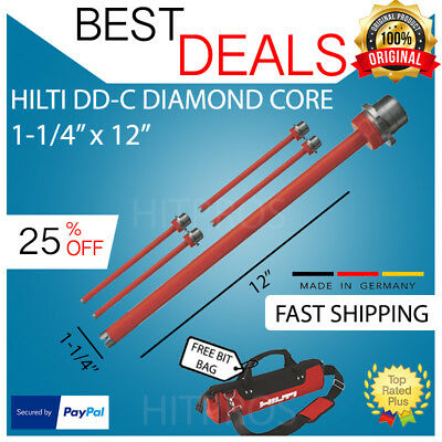 Hilti Diamond Core Bit Dd-c 1-14 X 12 - T4 5-pk New Free Watch Fast Ship