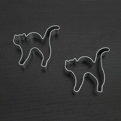1pc Halloween Cat Shape Aluminum Biscuit Mold Bakeware Fondant Cake Decor Molds (Halloween Biscuits Decoration)