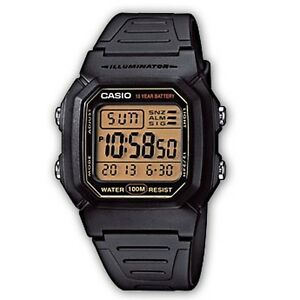 W-800HG-9A Casio Digital WR 100m Men's Watches PLASTIC