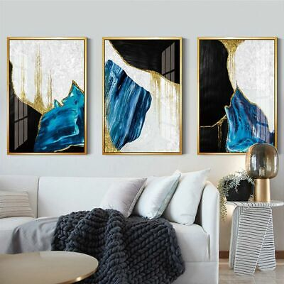 Nordic Blue Picture Wall Art Canvas Posters Abstract Modern Print Home Decor