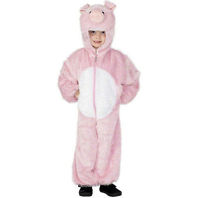 Pig Costume For Boy (Pink Pig Child Costume with Hood Child Size)