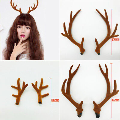 Cute Christmas Deer Reindeer Antlers Headband Props Easter  Accessory Wholesale