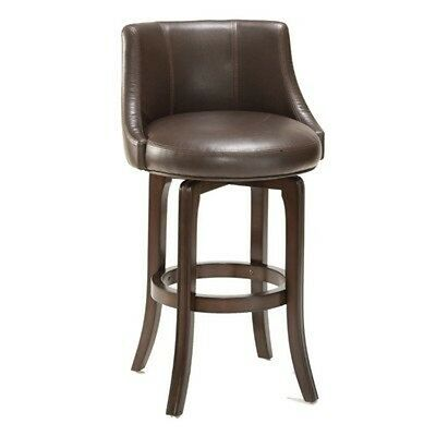 Hillsdale Furnituren Napa Valley Swivel Bar Stool - Brown Leather- 4294-831I NEW Cherry Unfinished Bar Stool