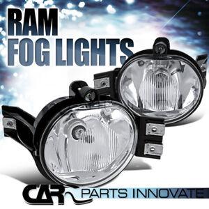 02-08 Dodge Ram 1500/2500/3500 04-06 Dodge Durango Clear Fog Lights Pair+Bulb