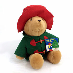 """Vintage Paddington Bear Plush Stuffed Animal Teddy 17"""" Felt Hat"""