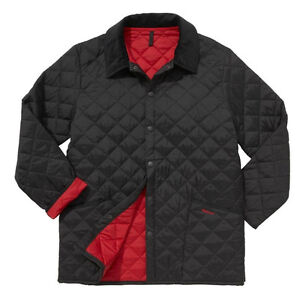 Barbour Liddesdale Quilted Jacket NWT Black/Red Men's XL