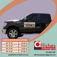 PRINTED MAGNETIC SIGNS FOR CARS AND TRUCKS