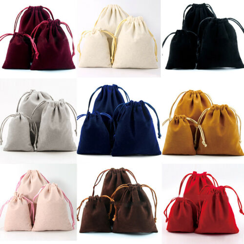 10XVelvet Storage Bags Wedding Favor Pouch Jewelry Packaging Gift Bag Little YNU