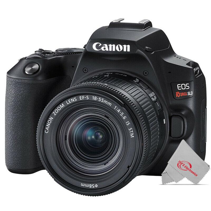 Canon EOS Rebel SL3 DSLR Camera with EF-S 18-55mm f/4-5.6 IS STM Lens (Black)