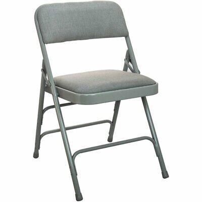 Flash Furniture Advantage Fabric Padded Metal Folding Chair In Gray