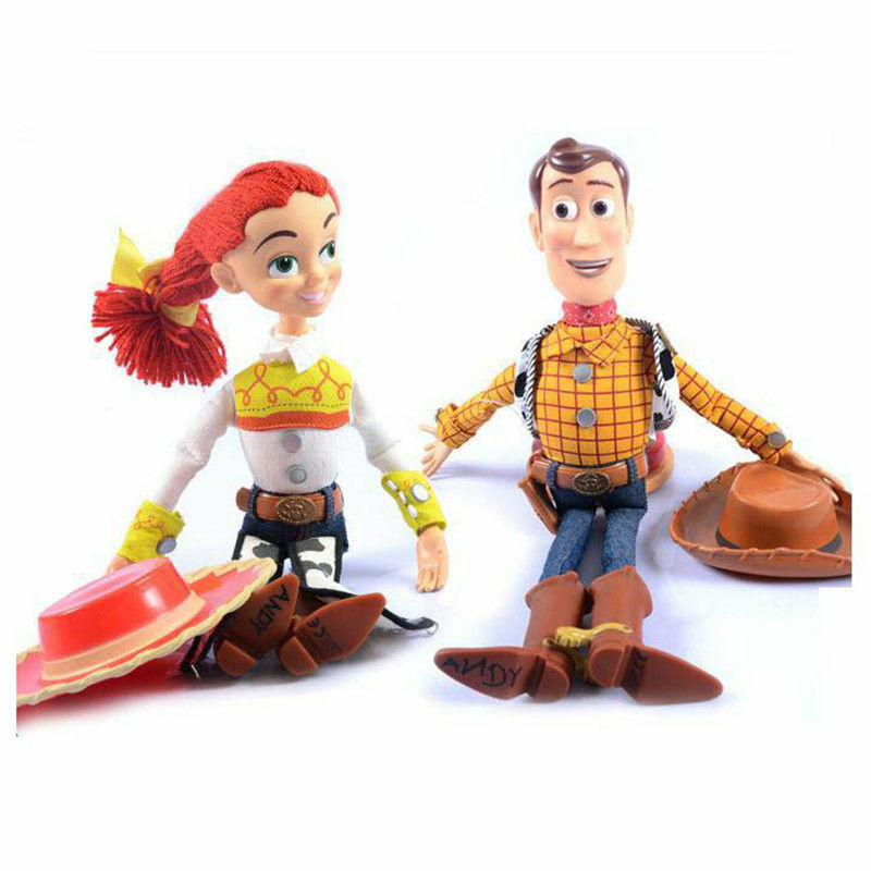 """Rope Lights Woodies: WOODY Toy Story 3 Pull String JESSIE 15"""" Talking Action"""