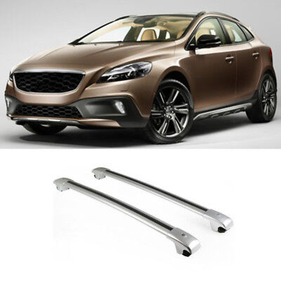 For Volvo V40 Cross Country 2014 2015 Top Side Rail Rack Luggage Carrier