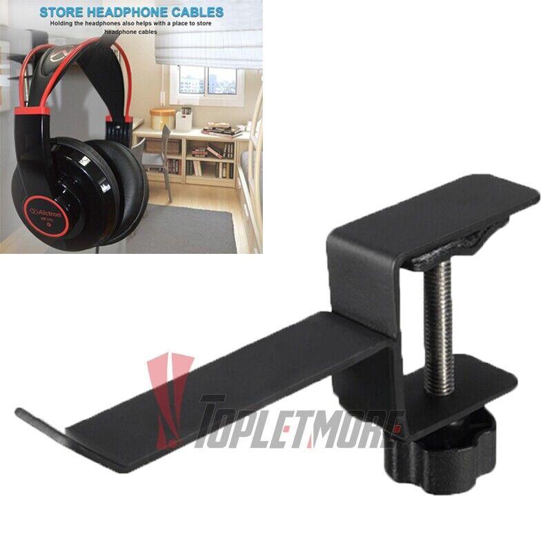 Under Desk Headphone Stand Gaming Headset Hanger Mount Universal Metal Holder