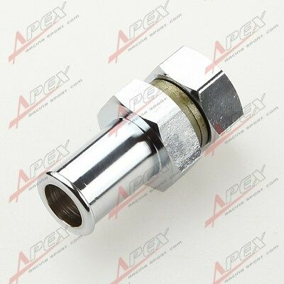 "Turbo Oil Pan Return Drain Plug Adapter Bung Fitting Bolt On 5/8"" Hose No Weld"
