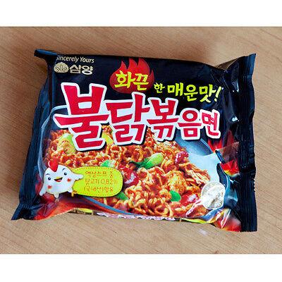 3Pack Hot Spicy Chicken Noodles Ramen Fire Ramyun Delicious Korean Noodle