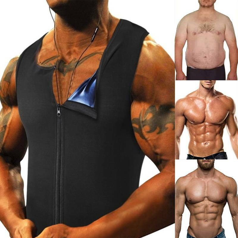 Men's Waist Trainer Sauna Vest for Weight Loss Sweat Fat Burner Compression Tops