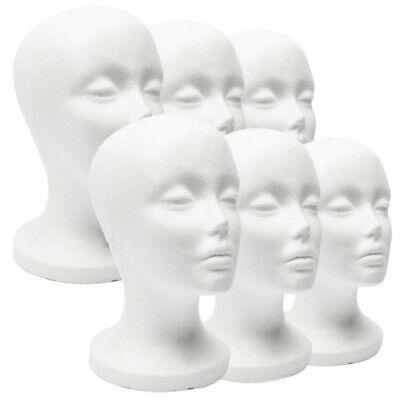 Foam Mannequin Female Head Model For Wig Glasses Hat Display Stand Model F Kb