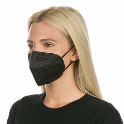 10x FFP2 Atemschutz Maske in Schwarz Mundschutz Zertifiziert CE 2163
