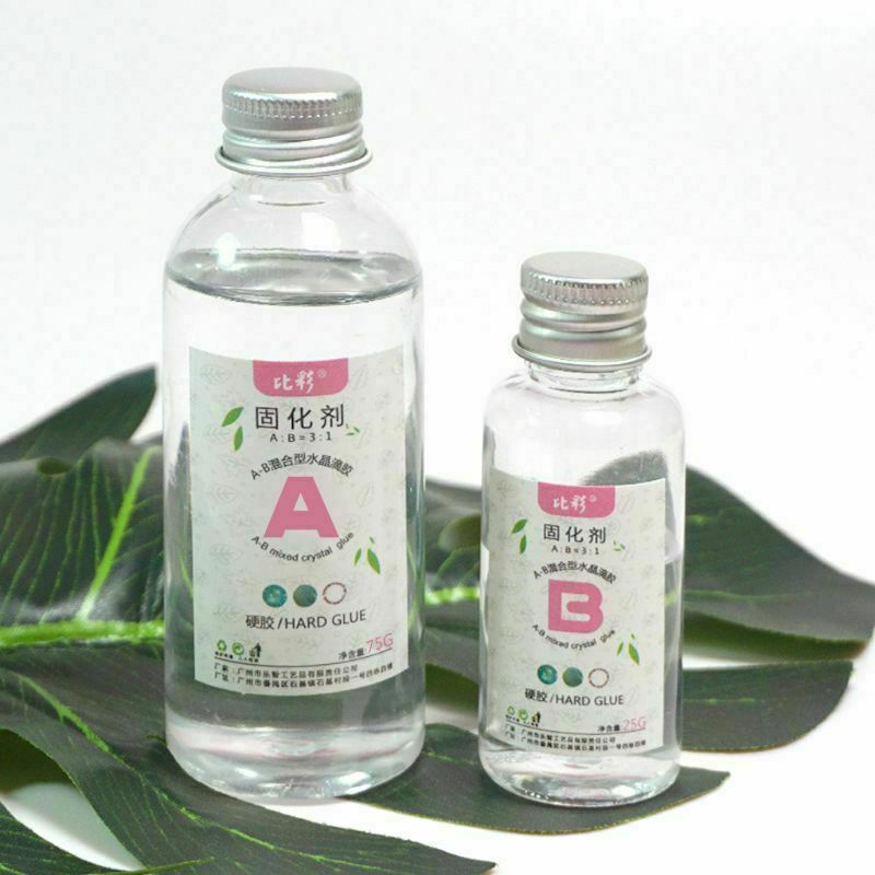 1 Set Clear Resin Epoxy High Adhesive 3:1 AB Crystal Glue Re