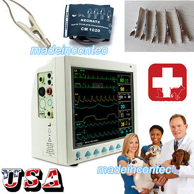 Icu Ccu 12 Patient Monitor 6parameter Medical Patient Monitor Vet Veterinary Us