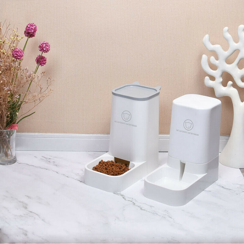Pet Automatic Feeder Food Drinker Water Dog Cat Puppy Bowl Feeder Auto Dispenser Dishes, Feeders & Fountains