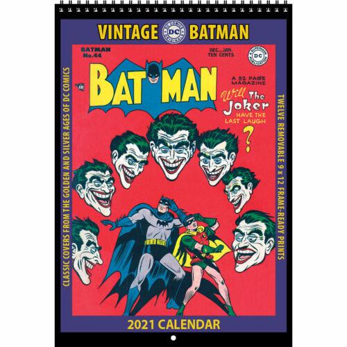 2021 VINTAGE BATMAN CALENDAR by Asgard Press