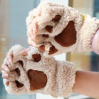 Frauen-Katzen-Greifer-Tatze-Handschuh-Plüsch-Handschuh-Kostüm-halber (Katze Schwarz Plüsch Kostüm)