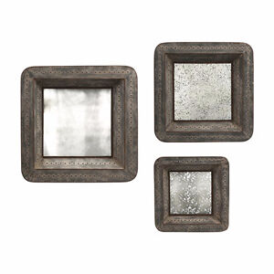 New IMAX 47484-3 Jezant Mirror Tray Wall Decor Set of 3
