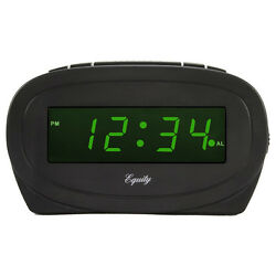 Equity 30226 Large LED Alarm Clock with Green Display, 0.6