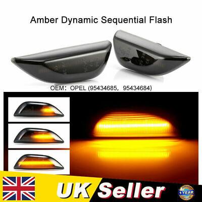 2x Dynamic Side Indicator LED Repeater Light For Opel Vauxhall Mokka X 95434685