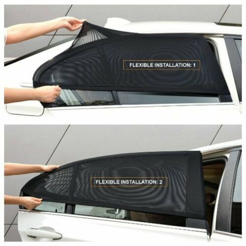 2 x Car Rear Side Window Sun Visor Shade Mesh Cover Shield Sunshade UV Protector