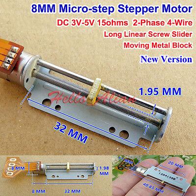 Dc 3v 5v 8mm 2-phase 4-wire Stepper Motor Mini Linear Screw Slider Moving Block