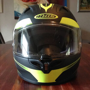 Motorcycle Helmet - HJC FG-17 Force Black with High-Vis graphics