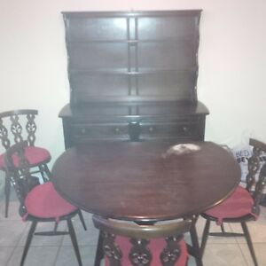 dinning table with side table