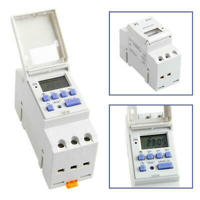 Din Rail Time Relay Switch Digital Lcd Power Programmable Timer Dc 12v Good