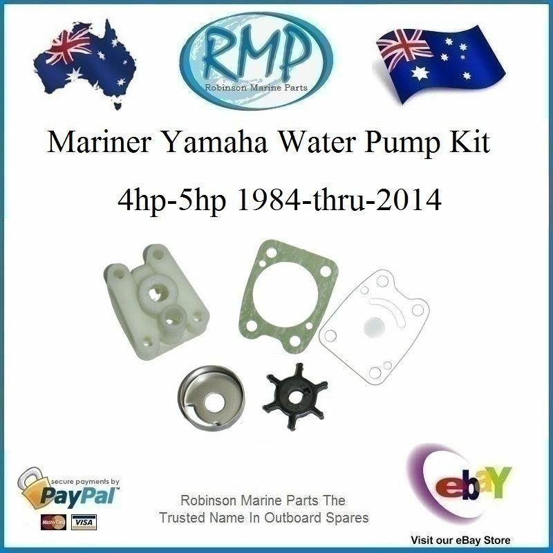 yamaha mariner 4hp 5hp 2 stroke impeller and gasket 6e0-44352-00  6e0-44315-A0