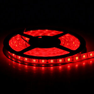 12V (24W) LED STRIP LIGHTS 16FT (ROLL) RED BLUE WHITE