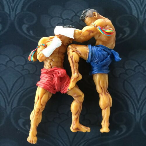 Muay Thai boxing souvenir collectibles handmade hand painted resin