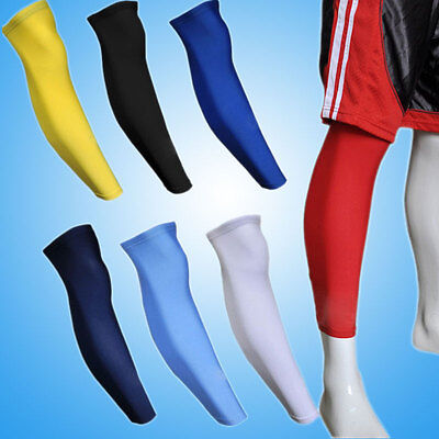 1X Cooling Arm Sleeves Cover Basketball Football Leg Knee Sports Protective Gear