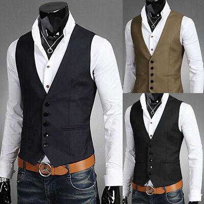 Herren Formell Freizeitkleid Weste Anzug schmal Mode Smoking Mantel Outwearlinie online kaufen