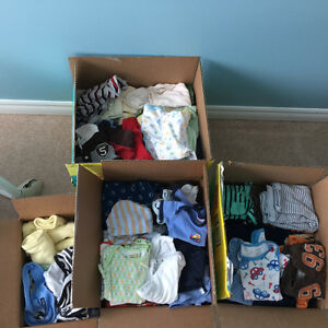 211 pcs of baby boy clothes 0-12 months