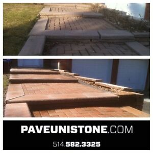 UNISTONE REPAIR - RE-LEVELLING & UNISTONE CLEANING- PAVEUNISTONE West Island Greater Montréal image 3