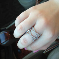 """Lost Ladies Silver Double Criss Cross """"X"""" Ring"""