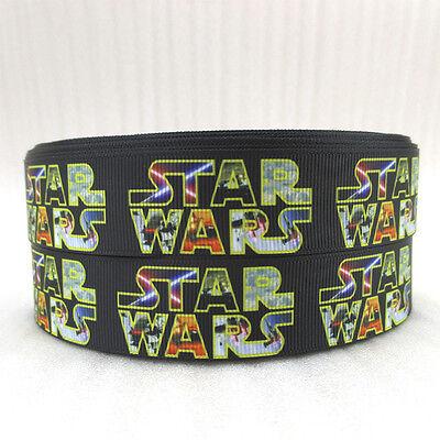 "Star Wars Ribbon 1"" Wide NEW UK SELLER FREE P&P"