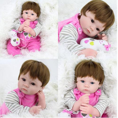 "16"" Reborn Baby Dolls Real Life Vinyl Silicone Girl Newborn Doll Birthday Gift"