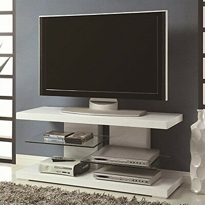 مكتبة تلفزيون جديد Coaster Tv Stand White- 700824 TV CONSOLE NEW