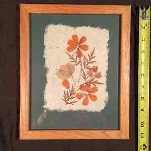 Madagascar pressed flowers on hand made paper