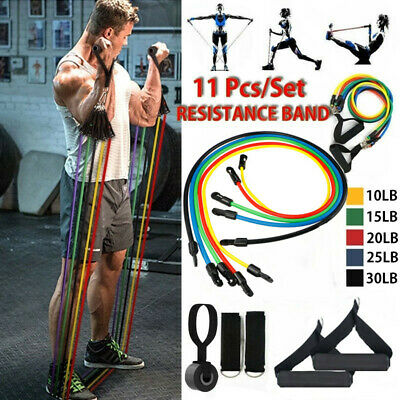 Resistance Bands Workout Exercise Yoga 11Pcs Set Crossfit Fitness Training Tubes