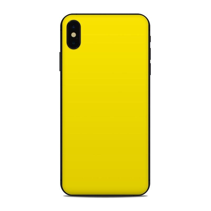 iPhone XS Max Skin - Solid Yellow - Sticker Decal